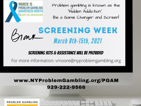 March is Problem Gambling Awareness Month...