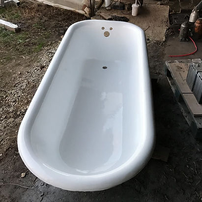After photo of bathtub after refinishing of oklahoma