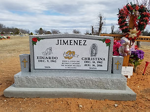 Momument headstone in portales nm