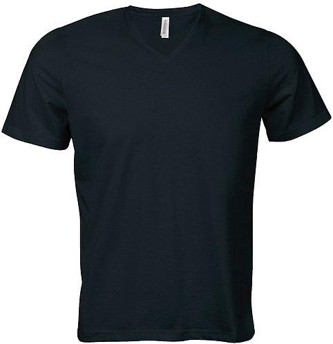 T-shirt heren met v-hals KARIBAN