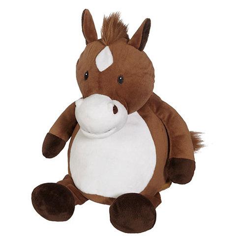 Pluche knuffel Paard - Tekst op Buik