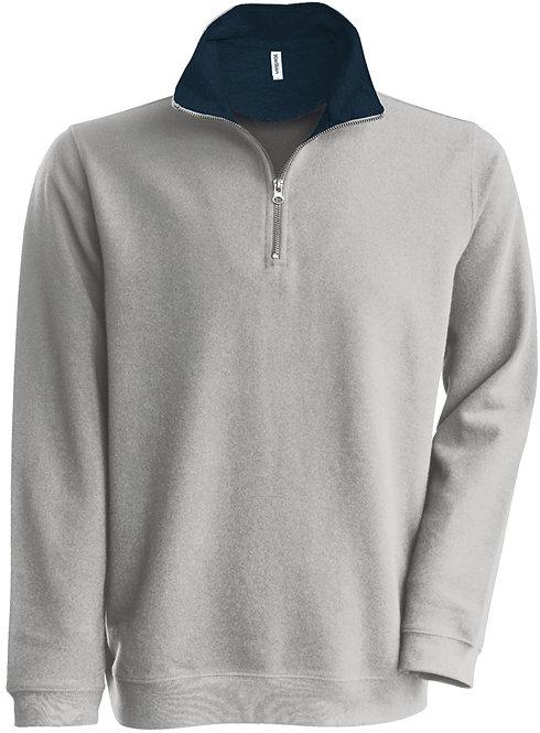 Sweatshirt met ritskraag KARIBAN