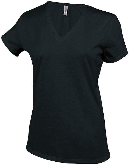 T-shirt vrouwen met v-hals KARIBAN