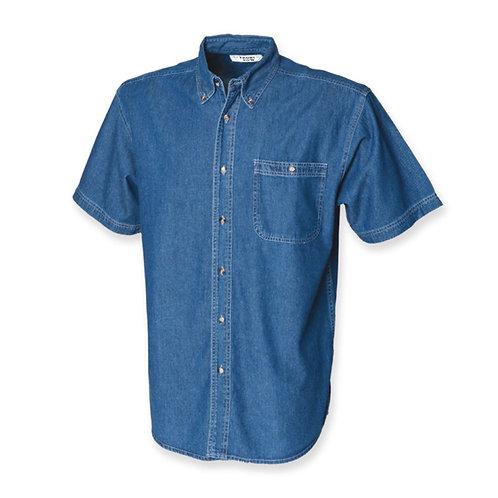 Overhemd met korte mouwen demin FRONT ROW