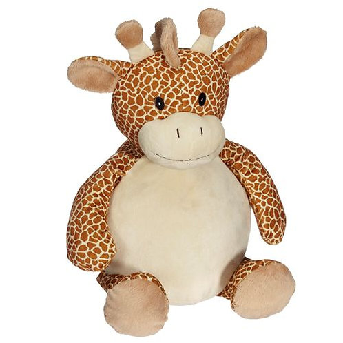 Pluche knuffel Giraffe - Tekst op Buik