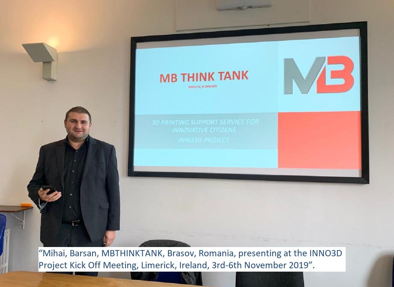 Mihai Barsan, INNO3D Project Kick Off Me