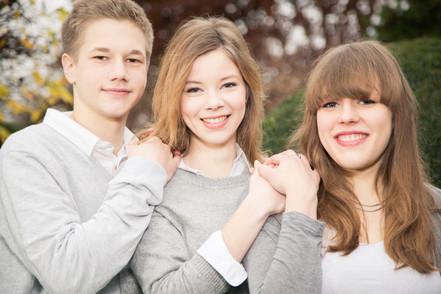 Geschwister-Fotoshooting