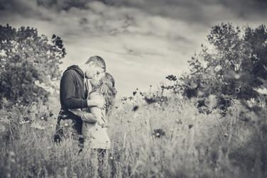 Paar-Fotoshooting Kuss