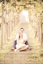 Paarfotos Verlobung in Weinreben
