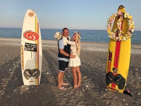 Surfer Wedding Greece