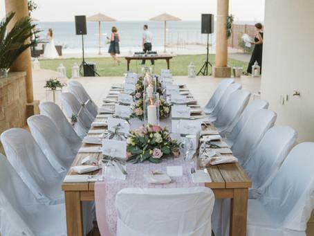 Hochzeit mit Freunden in der Villa am  Meer