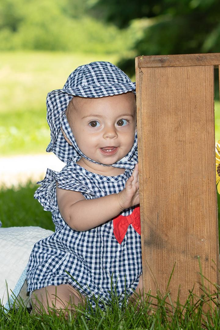 Farm baby photo