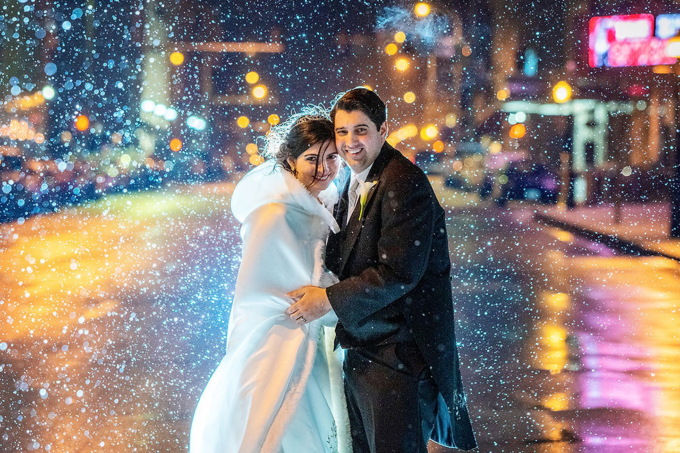 Wedding couple at Hotel Blackhawk by Rick Jennisch