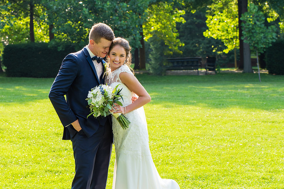 Bride and Groom on location by Rick Jennisch