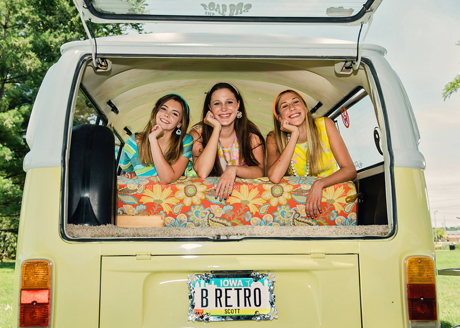 retro vw bus photoshoot
