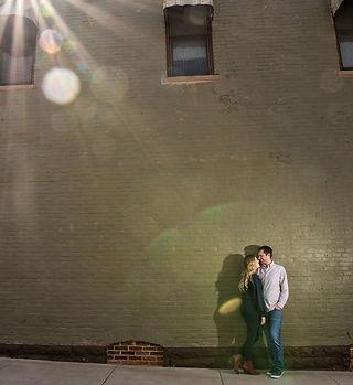 Engagement photo Rick Jennisch |sun flare