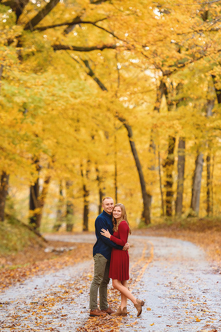 Gorgeous fall engagement photos