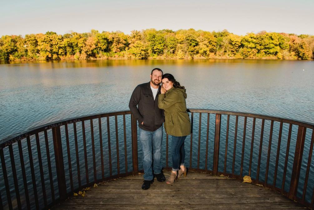 Engagement photo at Sylvan Island