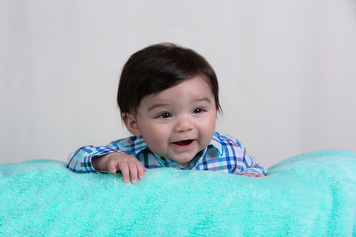 Little boy smiles