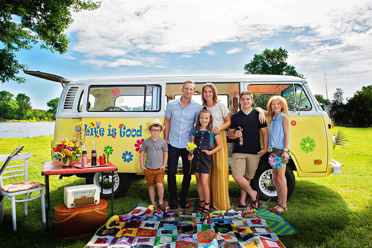 VW van family photo