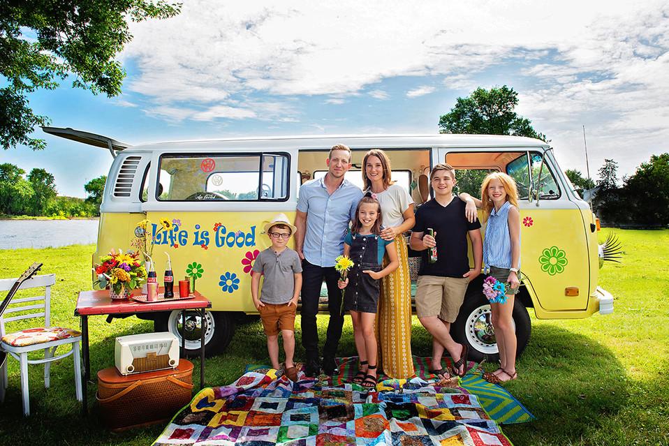 VW van family photo