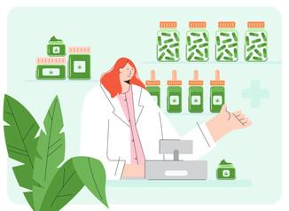 Alternative healthcare illustrations