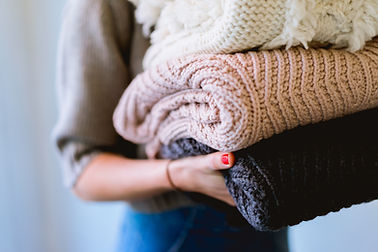 Un montón de suéteres