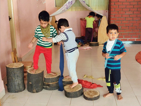 Free Play: A time to explore, discover and express themselves.