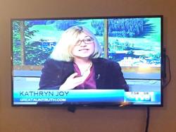 Kathryn Joy pitching Kickstarter Campaign on Vail TV-8