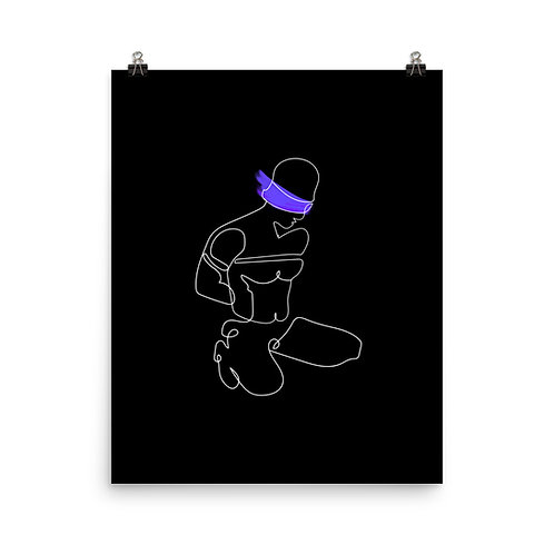 lonniedraws x blindfolded sub gallery art print