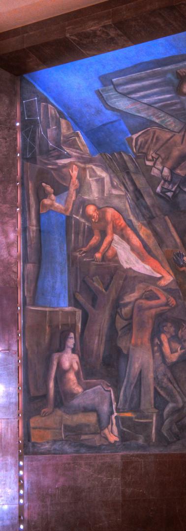 """""""L'Italia tra le Arti e le Scienze"""" - Mario Sironi - dettaglio"""