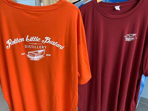 SportTek Wick-away t-shirts in Orange or Garnet