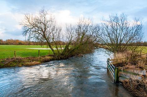 River Frome at Dorchester, Dorset, Engla