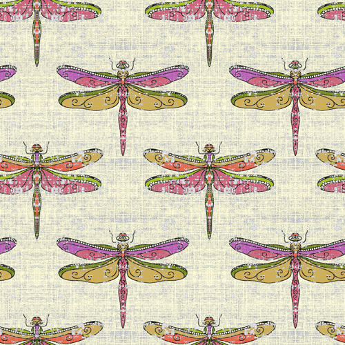 Dragonflies Warm Tones