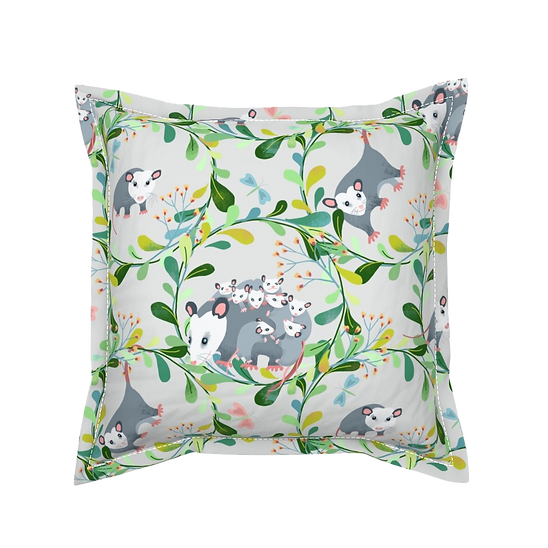 Designed by Debby possom pillow with natural colors