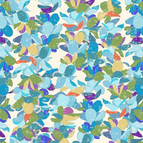 Blue Flower Lei Petals