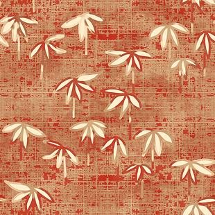Baby Bamboo Red Fabric and Wallpaper