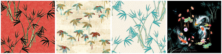 Japanese prints for fabric by Designed by Debby