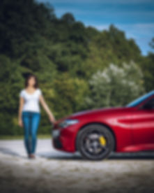 That's me and my Veloce - Dani. my_redGiulia Automotive Photography