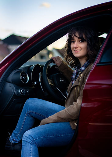 That's me - Dani. my_redGiulia Automotive Photography