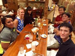 Enjoying dinner at Casa de Pasta