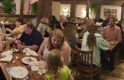 A full dining room at Casa de Pasta