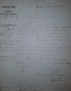 Demande d'autorisation pour débit de Boissons