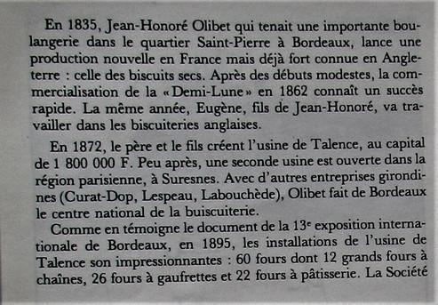 Biscuits Olibet 01 Historique