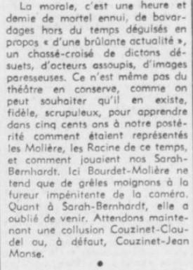 François Chalais le théatre est nul