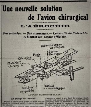 Avion testé avant la fin de la guerre de 14