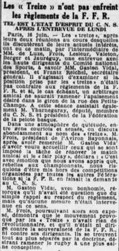 041 Le même article dans la Petite Gironde