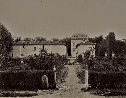1783-1896 Château Raba  Le potager vu de l'orangerie