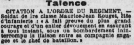 Citation ROUGET Maurice Jean