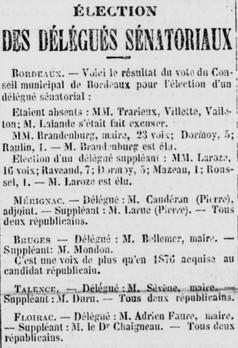 Frédéric Sévène Grand électeur